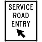 SERVICE ROAD ENTRY