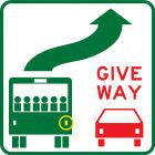 GIVE WAY TO BUSES