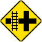 RAILWAY CROSSING AT INTERSECTION