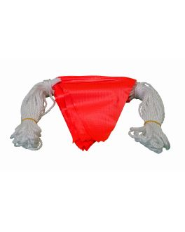 BUNTING FLUORO RED 30m (45 flags)