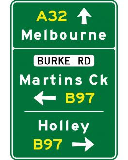 ADVANCE DIRECTION SIGN