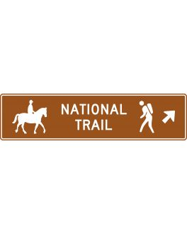 NATIONAL TRAIL DIRECTION SIGN