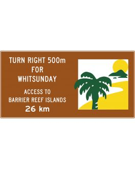 """INFORMATION SIGN TOURIST TYPICAL """"RESORT/AREA"""" SIGN"""