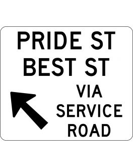 SERVICE ROAD OPENING SIGN