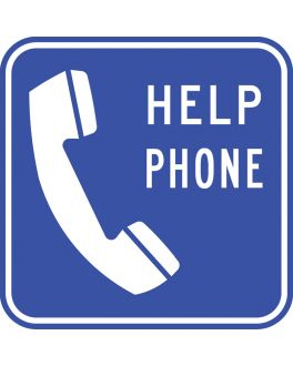HELP PHONE POSITION SIGN