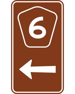 TOURIST DRIVE ADVANCE SIGN NUMERAL AND ARROW