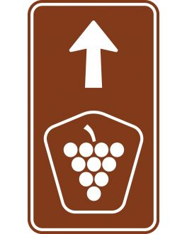 TOURIST DRIVE MARKERS SHIELD SYMBOL AND ARROW