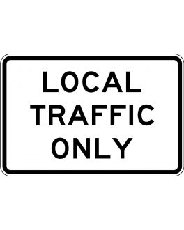 LOCAL TRAFFIC ONLY