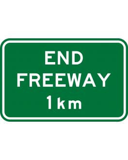 END FREEWAY 1 KM