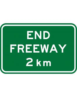END FREEWAY 2 KM