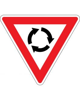 GIVE WAY AT ROUNDABOUT