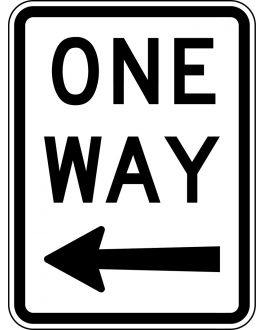 "ONE WAY ""DIRECTION"""