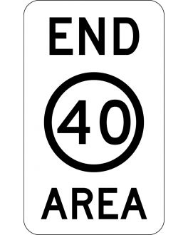 END SPEED LIMIT AREA