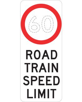 ROAD TRAIN SPEED LIMIT