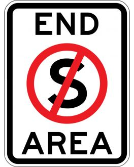 END NO STOPPING AREA