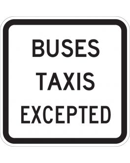 BUSES TAXIS EXCEPTED