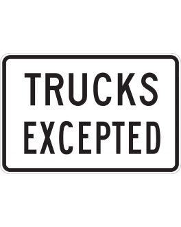 TRUCKS EXCEPTED