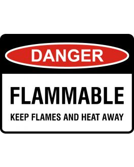 FLAMMABLE KEEP FLAMES AND HEAT AWAY