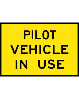 PILOT VEHICLE IN USE
