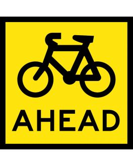 Symbolic Bicycle Ahead