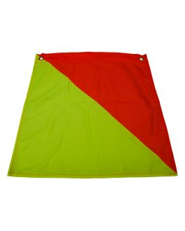 450 x 450 FLAG OVERSIZE LOAD (RED YELLOW)