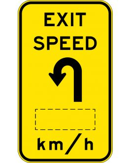 EXIT SPEED ?KM/H WITH