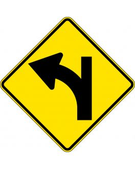 SIDE ROAD JUNCTION STRAIGHT AHEAD ON A CURVE