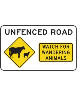 UNFENCED ROAD WATCH FOR WANDERING ANIMALS