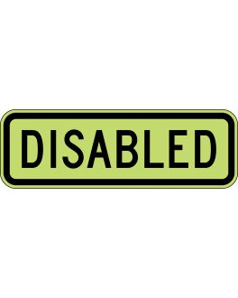 DISABLED FLUORO YEL/GRN