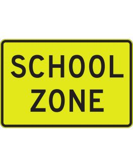 SCHOOL ZONE YEL/GRN